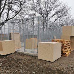 Der Ausbau der Quarantänestation in Dombovár schreitet voran…